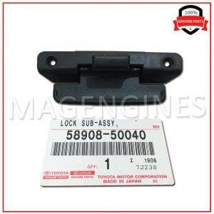 58908-50040-TOYOTA-GENUINE-CONSOLE-COMPARTMENT-DOOR-LOCK-SUB-ASSY