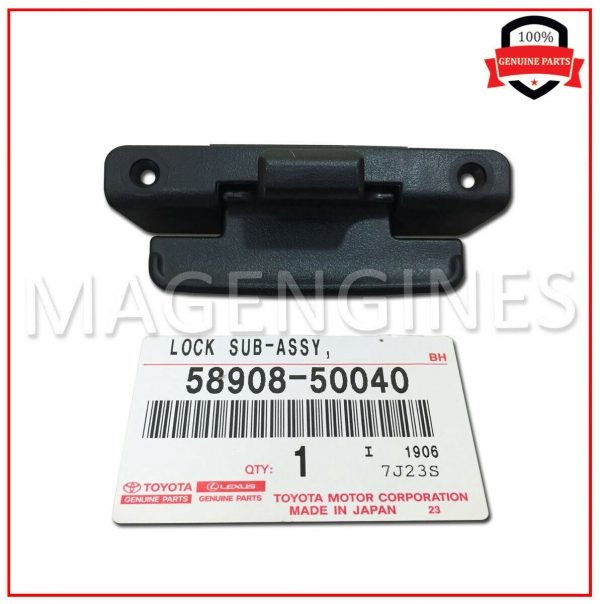 58908-50040-TOYOTA-GENUINE-CONSOLE-COMPARTMENT-DOOR-LOCK-SUB-ASSY