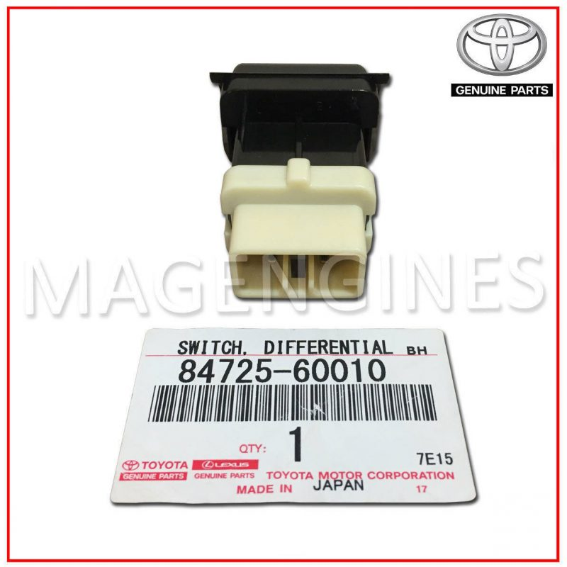 84725-60010 TOYOTA GENUINE CENTER DIFFERENTIAL LOCK SWITCH