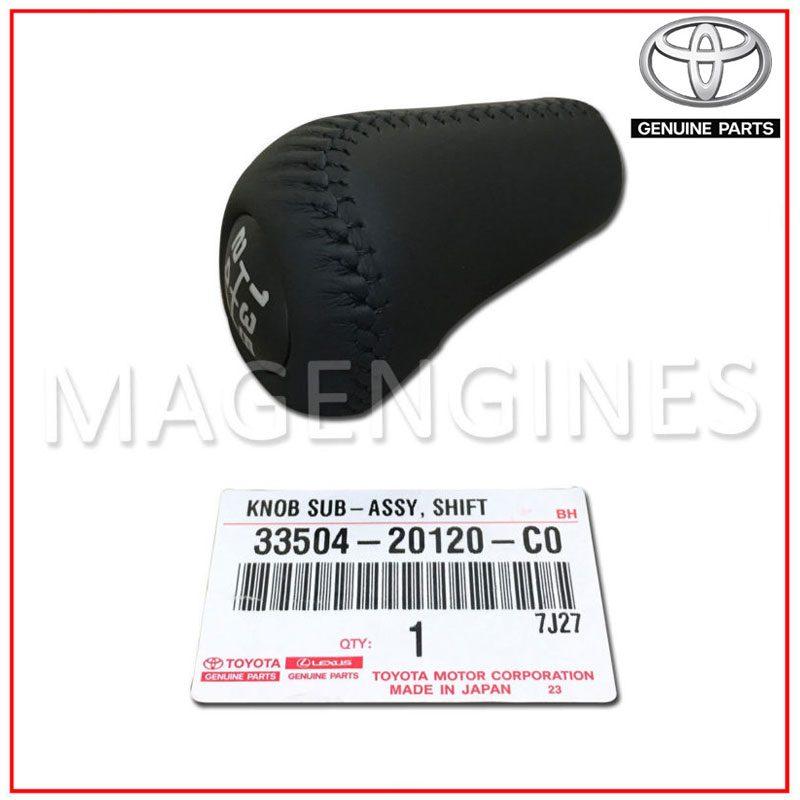 3350420120C0 Genuine Toyota KNOB SUB-ASSY SHIFT LEVER 33504-20120-C0