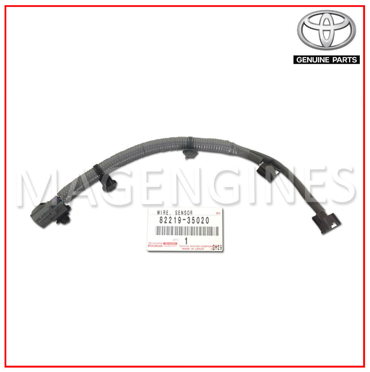 82219 35020 Toyota Genuine Knock Sensor Wire Harness Mag Engines