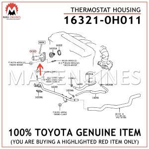 16321-0H011 TOYOTA GENUINE THERMOSTAT HOUSING 163210H011