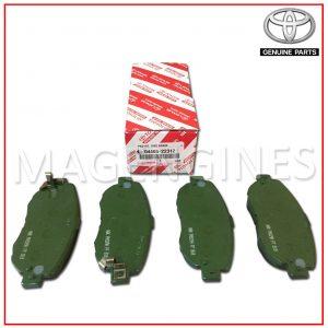 04465-22312 TOYOTA GENUINE FRONT BRAKE PADS