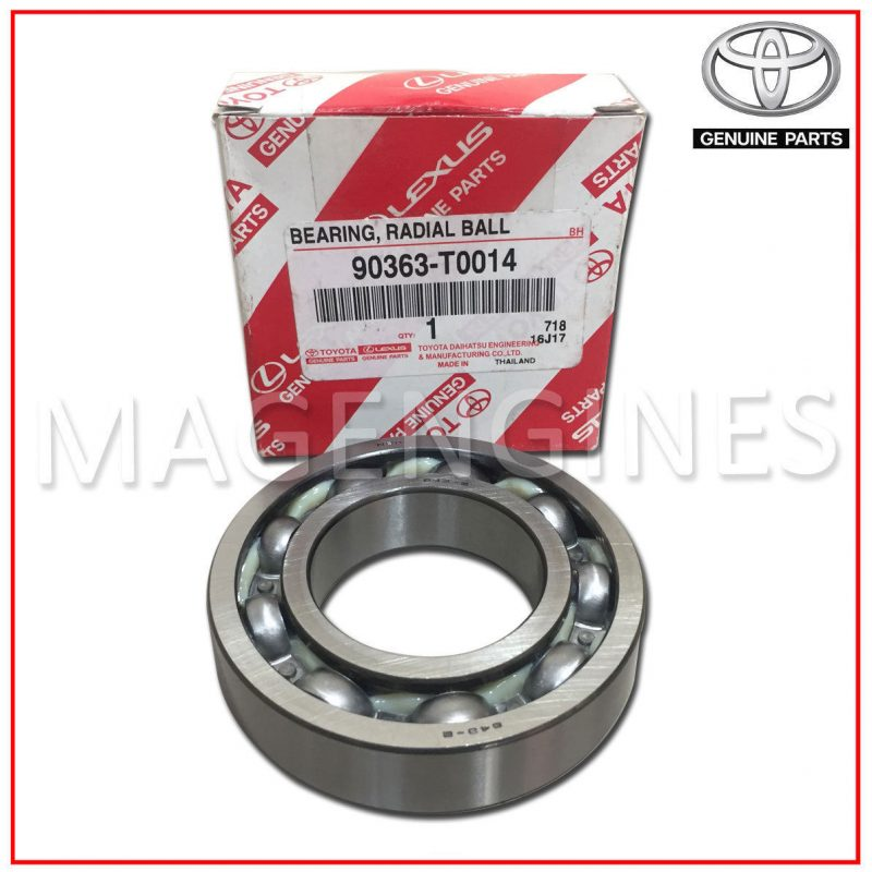 90363-T0014 TOYOTA GENUINE BEARING (FOR FRONT DIFFERENTIAL SIDE GEAR SHAFT  RH)