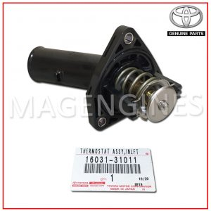 16031-31011 TOYOTA GENUINE ENGINE THERMOSTAT WITH HOUSING.1