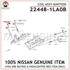 22448-1LA0B-NISSAN-GENUINE-IGNITION-COIL-ASSY-224481LA0B