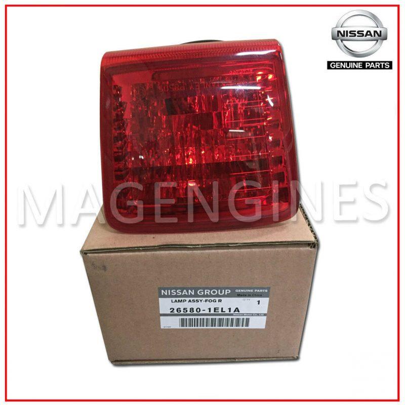 26580 1el1a nissan genuine rear fog lamp assy mag engines