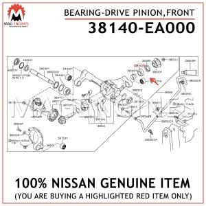 38140-EA000-NISSAN-GENUINE-BEARING-DRIVE-PINION,-FRONT-38140EA000
