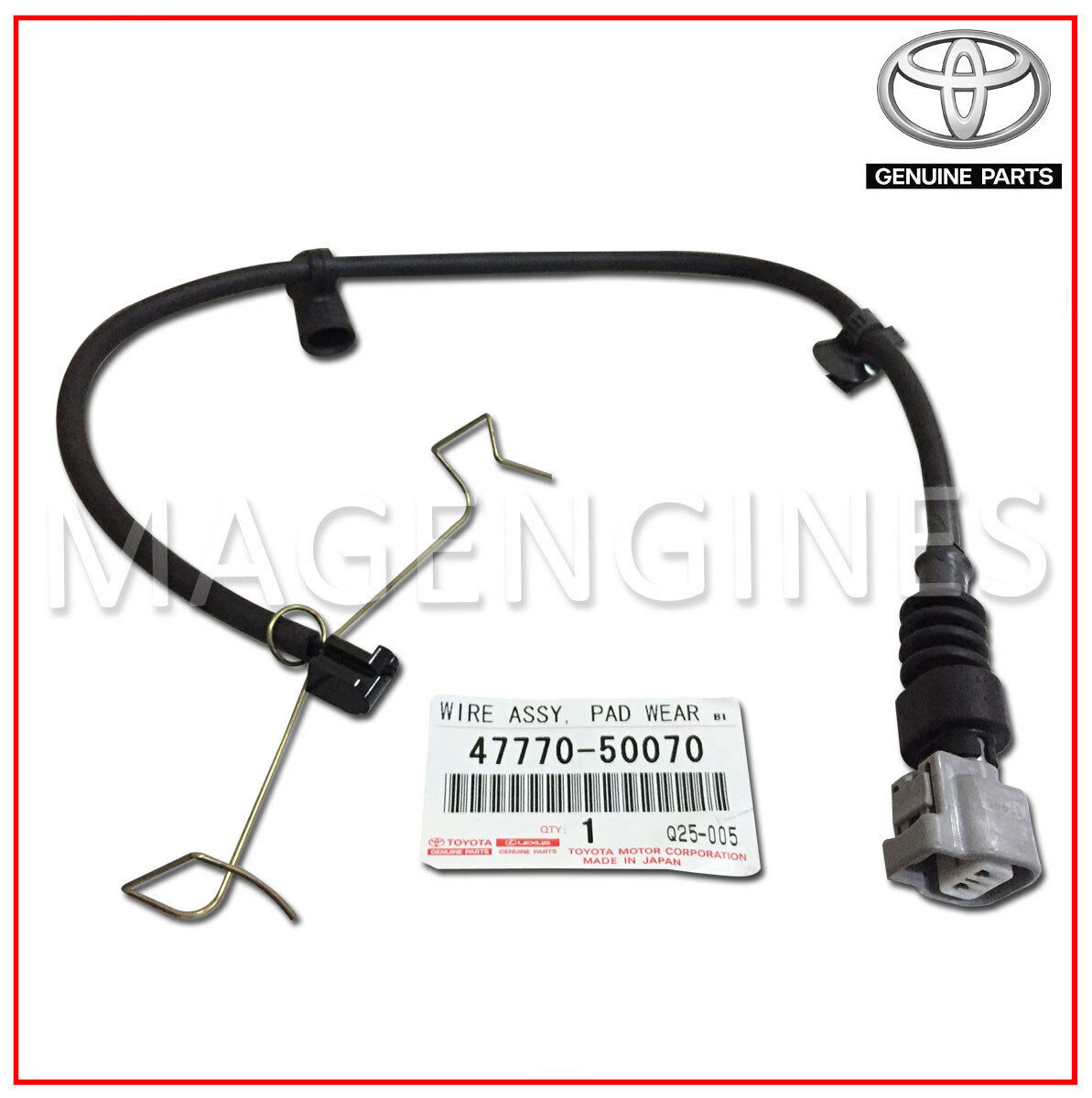 47770 50070 Toyota Genuine Wire Assy Pad Wear Indicator Front Rh 4777050070 Mag Engines