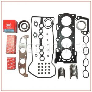 PISTON RINGS TOYOTA 3ZZ-FE WITH MAIN CON ROD BEARING SET & FULL GASKET KIT