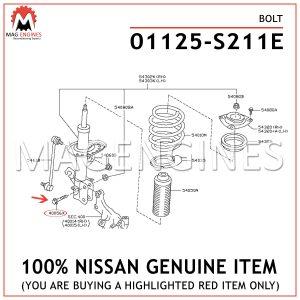 01125-S211E-NISSAN-GENUINE-BOLT-01125S211E