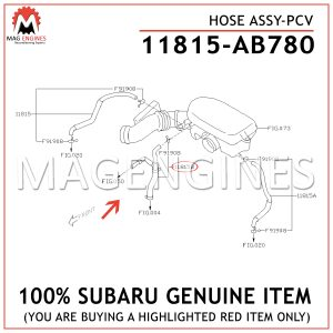 11815-AB780-SUBARU-GENUINE-HOSE-ASSY-PCV-11815AB780