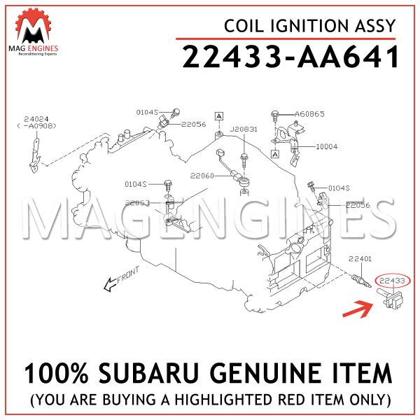 22433-AA641-SUBARU-GENUINE-COIL-IGNITION-ASSY