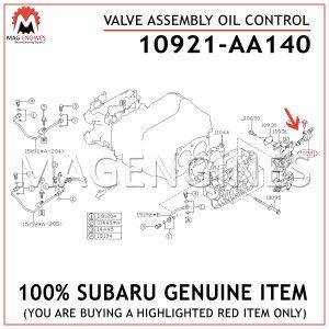 10921-AA140-SUBARU-GENUINE-VALVE-ASSEMBLY-OIL-CONTROL-10921AA140