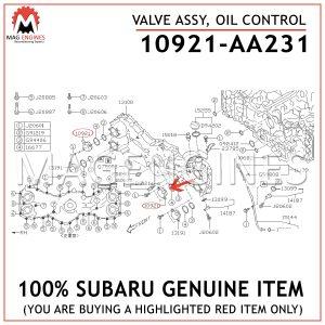 10921-AA231-SUBARU-GENUINE-VALVE-ASSY,-OIL-CONTROL-10921AA231
