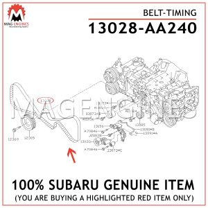 13028-AA240-SUBARU-GENUINE-TIMING-BELT-13028AA240