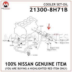 21300-8H71B NISSAN GENUINE COOLER SET-OIL 213008H71B