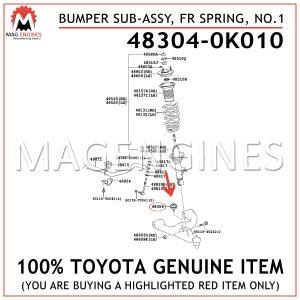 48304-0K010 TOYOTA GENUINE BUMPER SUB-ASSY, FRONT SPRING, NO.1 483040K010