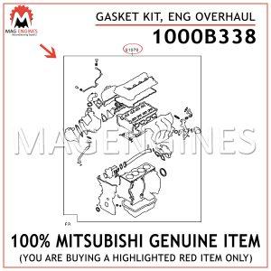 1000B338-MITSUBISHI-GENUINE-GASKET-KIT,-ENG-OVERHAUL