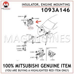 1093A146-MITSUBISHI-GENUINE-INSULATOR,-ENGINE-MOUNTING