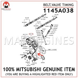 1145A038 MITSUBISHI GENUINE BELT,VALVE TIMING