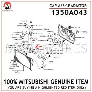 1350A043-MITSUBISHI-GENUINE-CAP-ASSY,RADIATOR