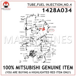 1428A034-MITSUBISHI-GENUINE-TUBE,FUEL-INJECTION,NO.4
