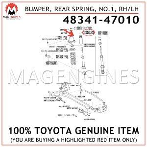 48341-47010 TOYOTA GENUINE BUMPER, REAR SPRING, NO.1, RH/LH 4834147010