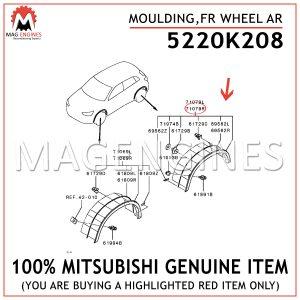 5220K208-MITSUBISHI-GENUINE-MOULDING,FR-WHEEL-AR