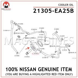 21305-EA25B-NISSAN-GENUINE-COOLER-OIL-21305EA25B-21305EA25B