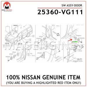 25360-VG111-NISSAN-GENUINE-SW-ASSY-DOOR-25360VG111