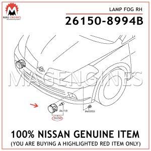 26150-8994B-NISSAN-GENUINE-LAMP-FOG-RH-261508994B