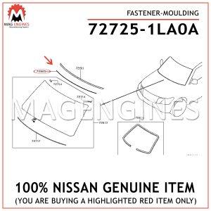72725-1LA0A NISSAN GENUINE FASTENER-MOULDING 727251LA0A