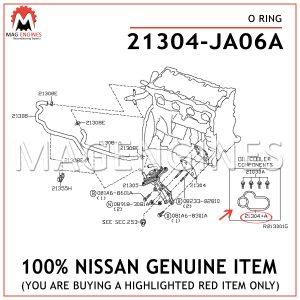 21304-JA06A NISSAN GENUINE O RING 21304JA06A