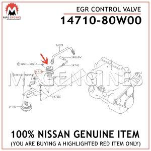 14710-80W00 NISSAN GENUINE EGR CONTROL VALVE