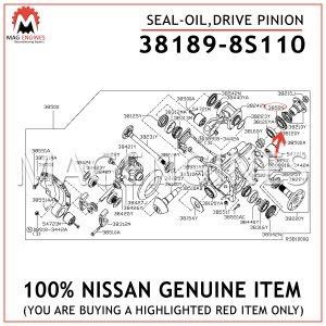38189-8S110 NISSAN GENUINE SEAL-OIL, DRIVE PINION
