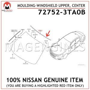 72752-3TA0B NISSAN GENUINE MOULDING-WINDSHIELD UPPER, CENTER 727523TA0B