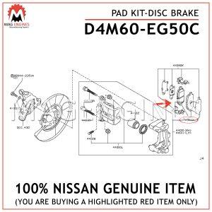 D4M60-EG50C NISSAN GENUINE PAD KIT-DISC BRAKE