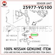 25977-VG100 NISSAN GENUINE SENSOR UNIT