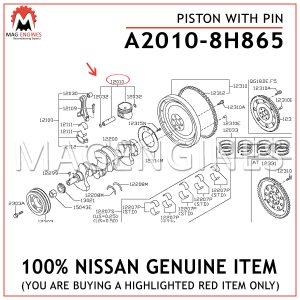 A2010-8H865-NISSAN-GENUINE-PISTON-WITH-PIN-A20108H865