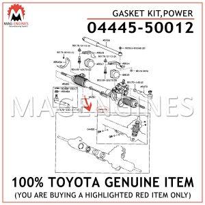 04445-50012 TOYOTA GENUINE GASKET KIT,POWER 0444550012