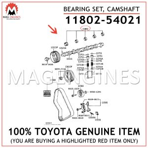 11802-54021 TOYOTA GENUINE BEARING SET, CAMSHAFT 1180254021