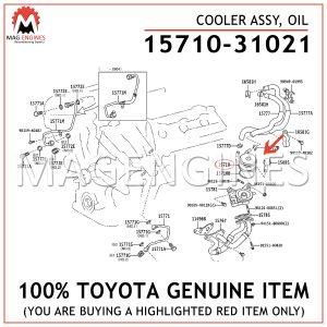 15710-31021 TOYOTA GENUINE COOLER ASSY, OIL 1571031021