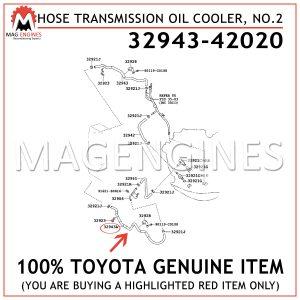 32943-42020 TOYOTA GENUINE HOSE, TRANSMISSION OIL COOLER, NO.23294342020