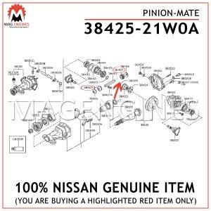 38425-21W0A NISSAN GENUINE PINION-MATE 3842521W0A