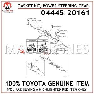04445-20161 TOYOTA GENUINE GASKET KIT, POWER STEERING GEAR (FOR RACK & PINION) 0444520161