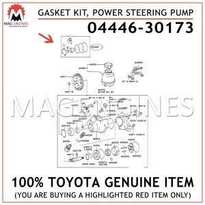 04446-30173 TOYOTA GENUINE GASKET KIT, POWER STEERING PUMP 0444630173