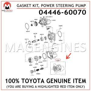 04446-60070 TOYOTA GENUINE GASKET KIT, POWER STEERING PUMP 0444660070