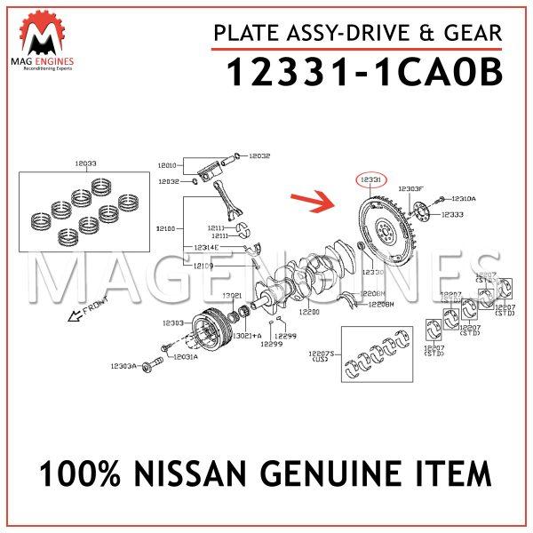 12331-1CA0B NISSAN GENUINE PLATE ASSY-DRIVE & GEAR 123311CA0B