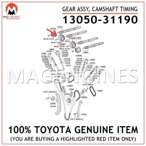 13050-31190 TOYOTA GENUINE GEAR ASSY, CAMSHAFT TIMING 1305031190